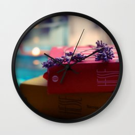 Rain, Hesse and Lavender Wall Clock