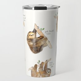 Sloths Travel Mug