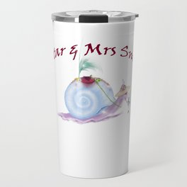 Snail and Fairy Illustration Travel Mug
