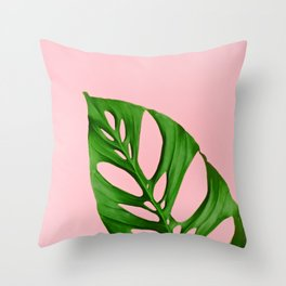 Plants on Pink v1 Throw Pillow