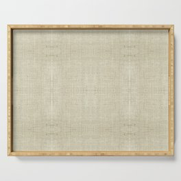 """""""Nude Burlap Texture"""" Serving Tray"""
