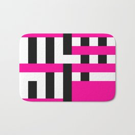 Licorice Bytes, No.18 in Black and Pink Bath Mat