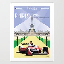 Mahindra Racing FIA Formula E Season Three Race 06 Paris ePrix Art Print