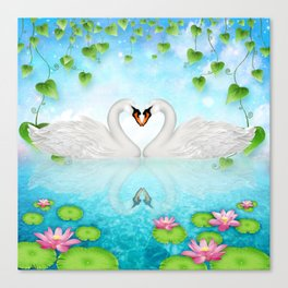 Heart of Swans #9 Canvas Print