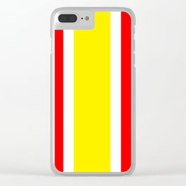 TEAM COLORS 10...YELLOW ,RED Clear iPhone Case