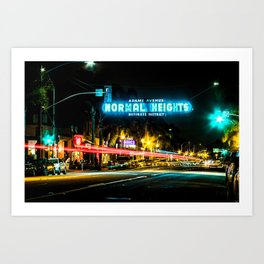 Normal Heights (San Diego) Sign - SD Signs Series #2 Art Print