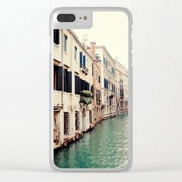 Venetian Canal Clear iPhone Case