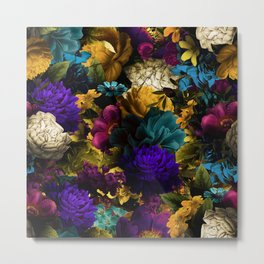 melancholy flowers big seamless pattern 01 Metal Print