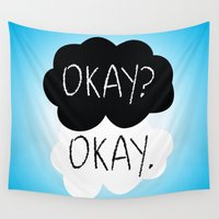the fault Wall Tapestries featuring OKAY? OKAY. The Fault in Our Stars by Alan Lima