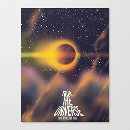 Tour the Universe Eclipse Sci-Fi poster Canvas Print