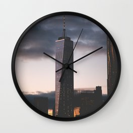 One World Trade Center New York City Skyline Wall Clock
