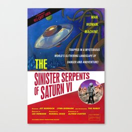 """""""The Sinister Serpents of Saturn VI"""" Movie Poster Canvas Print"""