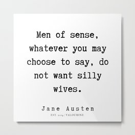 82   | Jane Austen Quotes | 190722 Metal Print