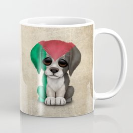 Cute Puppy Dog with flag of Palestine Coffee Mug
