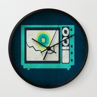 tv Wall Clocks featuring Tv by Annretro