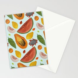 Papayas, watermelons and tropical flavours!  Stationery Cards