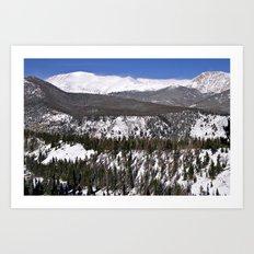 Rocky Mountain National Park Windswept Peaks Art Print