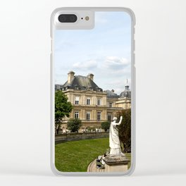 Luxembourg Gardens 13 Clear iPhone Case