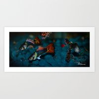 guppies Art Print