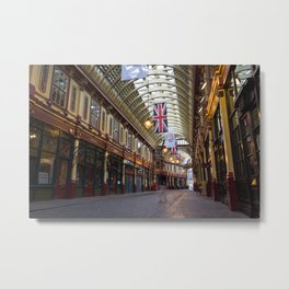 "Leadenhall Market London With "" ghost "" Metal Print"