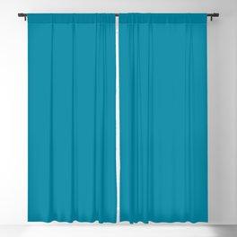 Solid Color Pantone Barrier Reef 17-4530 Blue Blackout Curtain