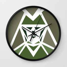 Five Triangle Faces - The Hunter Wall Clock