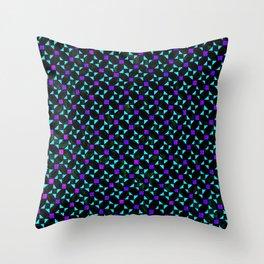 Purple and Light Blue Stars Throw Pillow