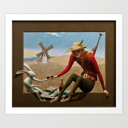 the hunter and the hare Art Print
