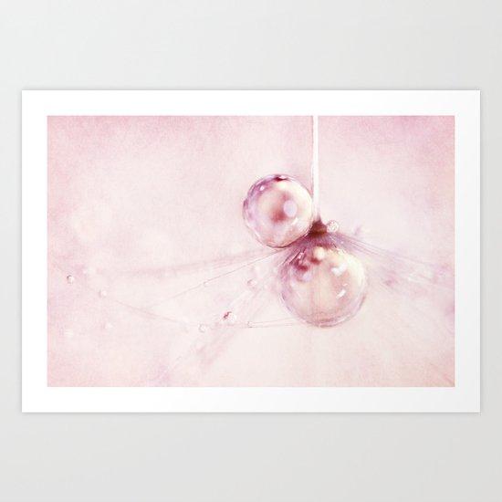 Ballet Pink Drops Art Print