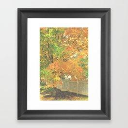 Autumn Gate Framed Art Print