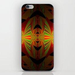 Orange Black Green Design iPhone Skin