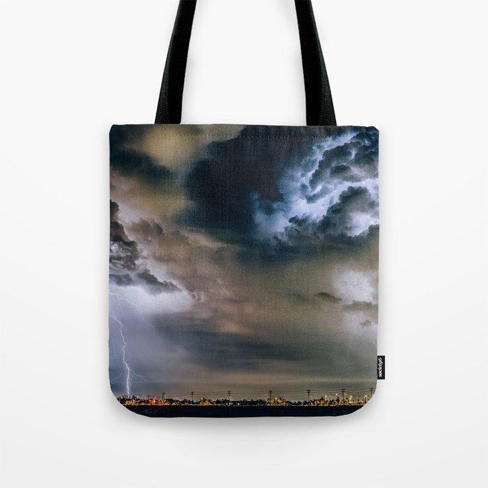 Lightning #clouds Tote Bag