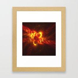 Fractal Flame Explosion Framed Art Print