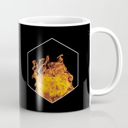 Fire hexagon abstract - Fire sign - The Five Elements Coffee Mug