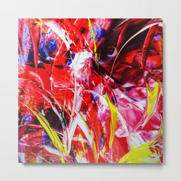 Abstract in acrylic Metal Print