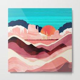 Sunset Desert Metal Print