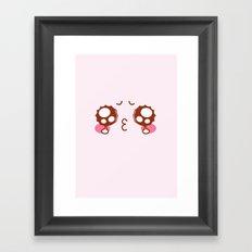 Cute and love Framed Art Print
