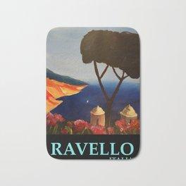 Ravello Salerno Italy View Of Amalfi Coast From Villa Rufolo Bath Mat