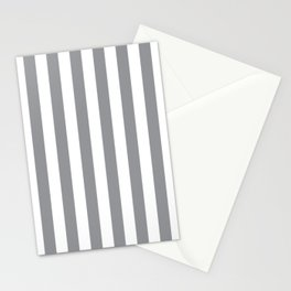 Vertical Grey Stripes Stationery Cards