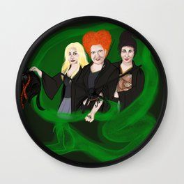 KITTY POTTER AND THE SANDERSON SISTERS' SPELL Wall Clock
