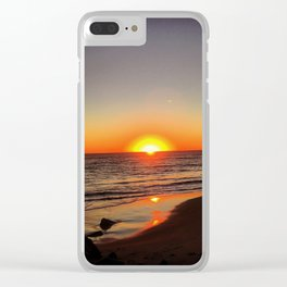 Sunset Pacific Ocean Clear iPhone Case