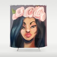 princess Shower Curtains featuring Princess by Jaleesa McLean