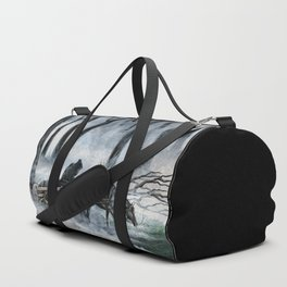 Grim Reaper with Horse in the Woods Duffle Bag