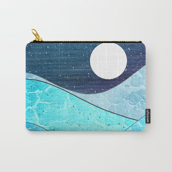 Ice Blue Waves Carry-All Pouch
