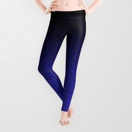 Blue & Black Glitter Gradient Leggings