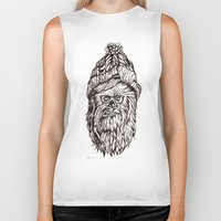 chewbacca Biker Tanks featuring Hipster Chewbacca  by LaurenNoakes