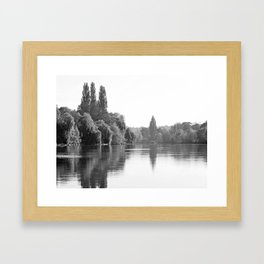 The River Oise at Auvers Framed Art Print