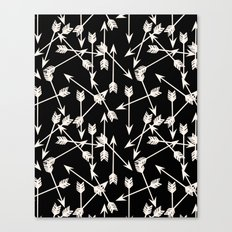 Arrows - Black and White by Andrea Lauren Canvas Print