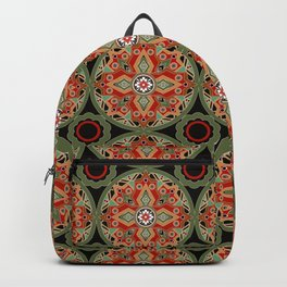 Colorful tribal ethnic ornament . Backpack