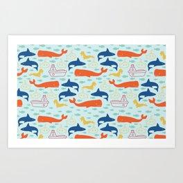 Under the Sea Adventures Art Print